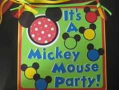 Its a Mickey Mouse Party
