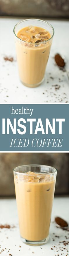 A two minute recipe for healthy instant iced coffee that will change your life! No brewing required for this easy and delicious vegan coffee recipe!