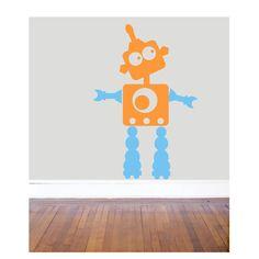 Vinil adhesivo de robot para decorado infantil.