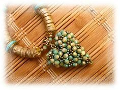 Exquisite beaded heart pendant: JEWELRY BéKata