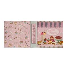 Sweet Treats Pink Vinyl Binder