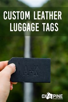 Our luggage tags travel all over the world, and can be customized with anything you want from your initials to your phone number to your travel inspiration. Leather Luggage Tags, Leather Gifts, Life Is An Adventure, Leather Journal, Graduation Ideas, Custom Leather, Ox, Her Style, Travel Inspiration