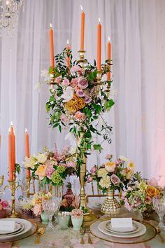 Jaw Dropping Modern Marie Antoinette Table ArrangementsFloral ArrangementsWedding