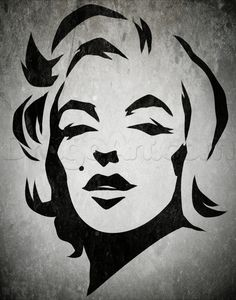 how to draw tribal marilyn monroe
