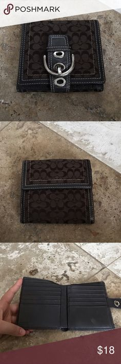 Coach signature wallet Used but has lots of use in it. Looks perfect from the outside. Only the leather inside shows signs of wear Coach Bags Wallets