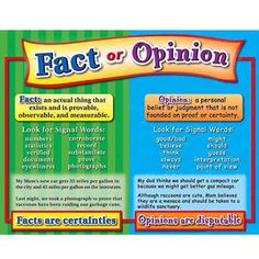 fact v opinion worksheet