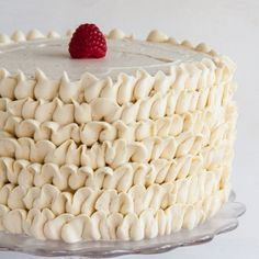 Earl Grey infused cake with a touch of sweet raspberry and vanilla bean buttercream.