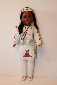 LARGE Vintage Native American Doll clothing Indian by AVintageDay, $20.00