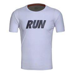 2017 Men's Sportswear Running Shirt Men Sport T-shirt Outdoor Jogging Tops Gym Loose Training Dry Fit Short Sleeve Uniform Women Sport T Shirt, Shirt Men, Running Shirts, Tshirts Online, Sportswear, Fitness, Mens Tops, Workout, Fashion
