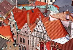 playing with roofs...Tábor, Bohemia, Czech Republic