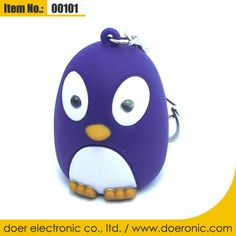 Plastic Penguin Voice LED Light Keychain Torch | Doer Electronic the Animals Novelty Gadgets Supplier from China, Welcome to the World of Animals Fun.