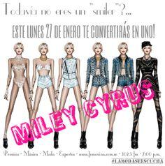 ¡¡WE CAN'T STOP!! Este lunes 27 llega a nuestro studio la controversial y única Miley Cyrus. Su cabello, su look, su estilo y por supuesto, su música ,invadirán el 102.5 del dial, tu cita es este lunes de 7 a 8PM #LaModaSeEscucha en  #RadioFemenina