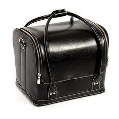 BLACK BEAUTY BAG. Stijlvol ontworpen professionele beautycase is een kruising tussen een praktische beautycase en design tas. Afmeting: 300 x 245 x 225 mm #black #beauty #bag