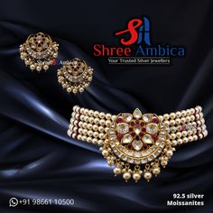 Check out this divinely Classic, 92.5 silver and Moissanite choker set- designed to delight, now and forever from Shree Ambica - Your Trusted Silver Jewellers. Pick this for the upcoming festive/wedding season. Readily available in stock For Price and Details Message on - +919866110500 #ShreeAmbica #tustedJewellers #SilverJewellery #indianbride #indianwedding #jewelryaddict #handcraftedjewellery #finejewellery #weddingsutra #jewelryforsale #jewelryswag #jewelrygoals #musthave