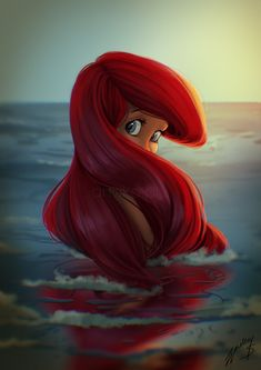 the little mermaid, Ariel La petite Sirène, Disney, Illustration