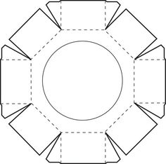 Octagonal Box lid - FREE printable: