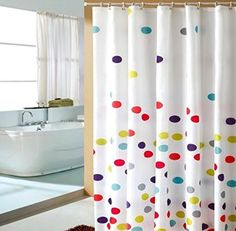 Maytex Mills Satori Fabric Shower Curtain Red MAYTEX