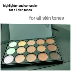 Nwt highlighter and concealer Nwt highlighter and concealer for all skin tones. Great for contouring too.  Instructions included Makeup Concealer
