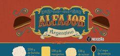 Infográfico receita de alfajor argentino, bem fácil de fazer, que agora você não vai mais precisar comprar alfajor Havanna.