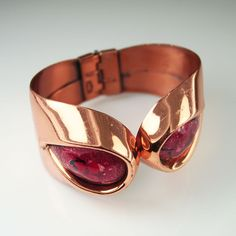 1950s Matisse copper enamel 'Sari' bracelet