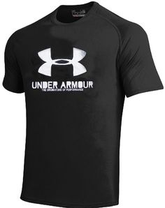 UNDER ARMOUR Men/'s Cold Black HeatGear AntiOdor Shirt,Polystr,MSRP$34.99-$40