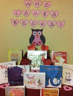 valentine library displays   Library Book Display: Valentine's Day   The Door 2 Door Librarian