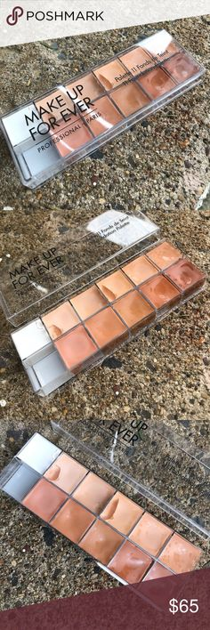 LOWEST PRICE Makeup Forever Pro Foundation Palette This palette is 100% authentic and has only been used a few times. Only four of the colors have been slightly used. This palette brand new goes for $113 and is no longer in stock...so get it while you can!! Great for makeup professionals!  Always remember when shopping within my closet:  😊Always open to reasonable offers ♥️20% off all bundles 🚫I do not trade  💸I only sell on posh  🗣I am always open to questions and will      respond…