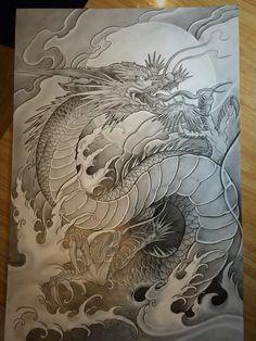 Red Dragon Tattoo, Japanese Dragon Tattoos, Japanese Sleeve Tattoos, Dragon Tattoo Designs, Japanese Snake Tattoo, Dragon Images, Asian Tattoos, Japan Tattoo, Oriental Tattoo