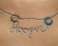 I LOVE this Hooper Necklace  Custom Hoop & by Exaltation on Etsy! You can customize the colors rto match your Hoops!!  $25.00
