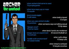 Archer the workout! Want to see more workouts like this one? Follow us here!