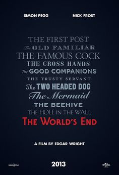Simon Pegg, Edgar Wright film 'The World's End' gets greenlight, poster | Inside Movies | EW.com