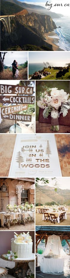 Stunning Big Sur wedding.  This is magical!