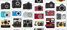 8bit camera icons by Billy Brown
