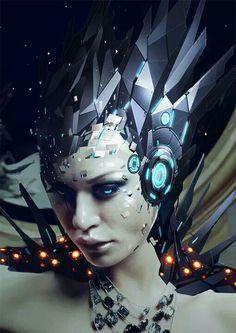 Android Cyborg on DeviantArt Character Concept, Concept Art, Character Design, Character Sketches, Trash Polka, Galaxy Saga, Robot Girl, Cyberpunk Art, Cg Art