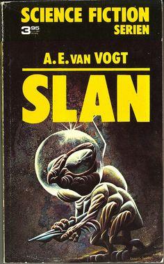 Alfred E van Vogt, Slan [Slan] (1973 - Lindfors förlag, Sweden; Science Fiction Serien 2), cover by Kenneth Smith. by jwaldenstrm on Flickr.