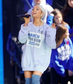 Ariana Grande performs at March For Our Lives at Washington on the 24/3/2018. // @sabaribello #MarchForOurLives #NeverAgain #BeAlright #ArianaGrande