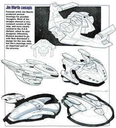 Early Voyager concept art by Jim Martin What do you think; do you like any of these?
