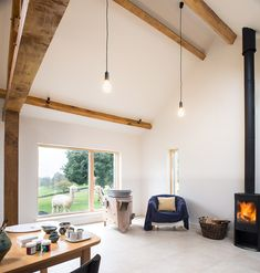 Mclean Quinlan Stables in Buckinghamshire, UK Architects London, Contemporary Barn, Modern Barn, Old Cottage, Maine House, Sustainable Design, Stables, Living Spaces, Living Room