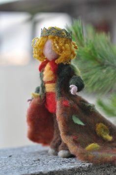 Needle Felted Wool Autumn prince-Waldorf inspired by darialvovsky