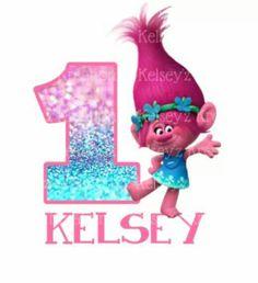 Trolls Birthday T-shirt Customizable by KelseysKrazyKreation Trolls Birthday Party, Troll Party, 7th Birthday, Birthday Party Themes, Birthday Ideas, My Little Girl, Vinyls, Party Gifts, First Birthdays