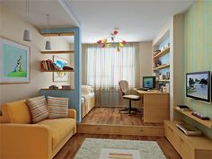 Дизайн детской для разнополых детей, зонирование, фото примеры, видео   Все о дизайне и ремонте дома