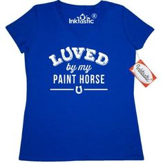 780db1e9cef Inktastic Paint Horse Lover Gift Idea Women s V-Neck T-Shirt Horses Animals  Owner Trainer Apparel Horseshoe Breed Loved By My Clothing Tees Adult Hws