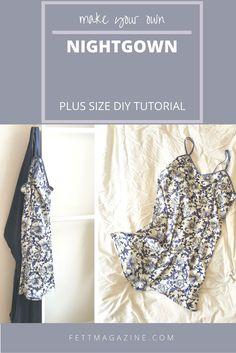 Plus size DIY. Cute nightgown.