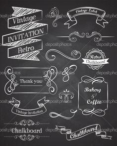 vintage chalk lettering - Google Search