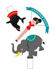 CUTE printable circus cake toppers and MORE adorable ideas!