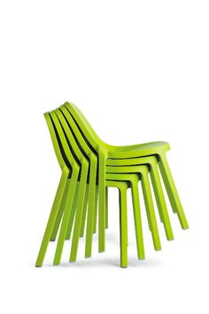 Philippe Starck's Broom Chair for Emeco    what happens when you stack more chairs?