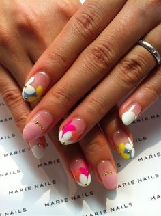 Simple flower nails.