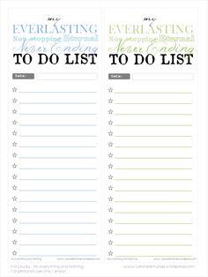 Free printable - To do lists