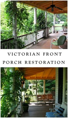 A DIY Victorian house restoration... before we began the front porch remodel, it looked like this.