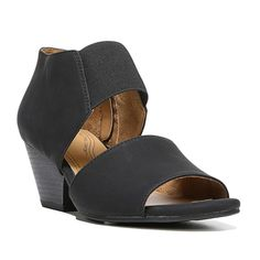NaturalSoul by naturalizer Dylan Women's Wedge Sandals, Size: medium (9.5), Black